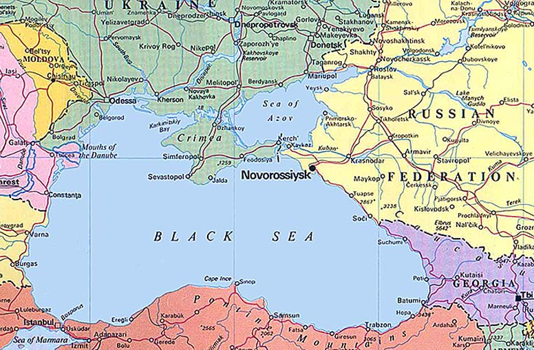 Russian Southern Ports: Novorossiysk Port Russia Map At Infoasik.co